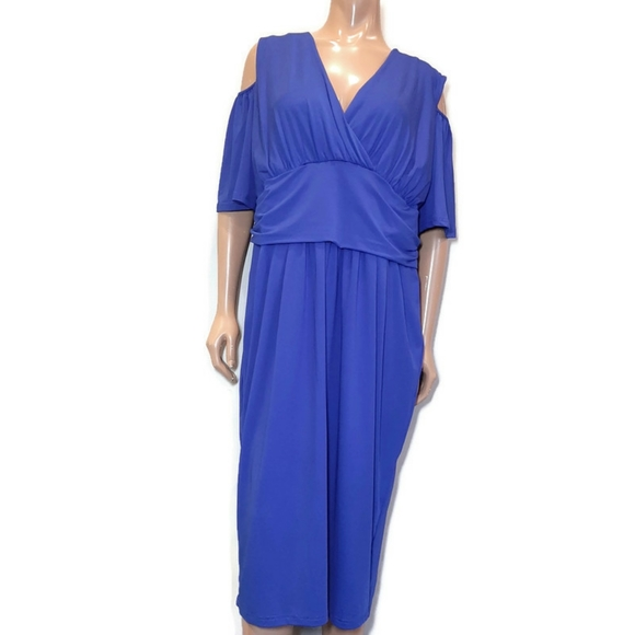 🍁 BUIBUI Cold Shoulder Surplice Formal Dress